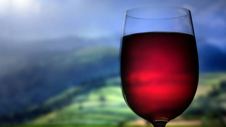 Red Wine Glass Closeup